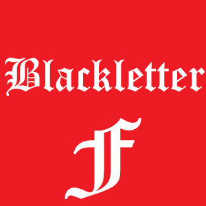 the basics of typography commerce puzzle blackletter