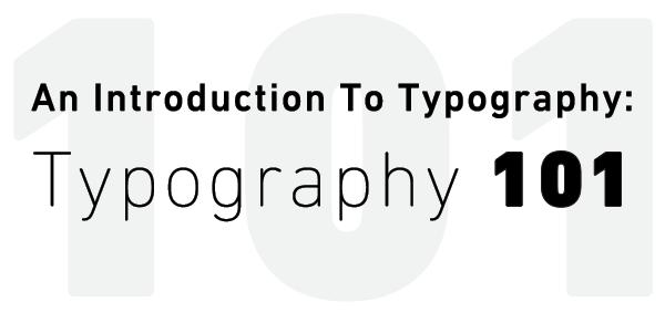 Typography 101